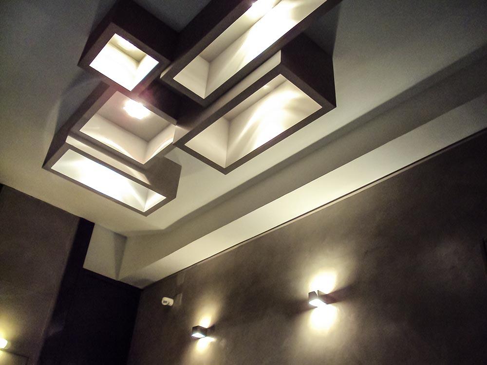 detalle reforma hall elegante